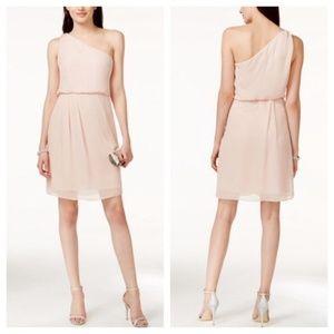 🔥Adrianna Papell Rhinestone Blush Dress
